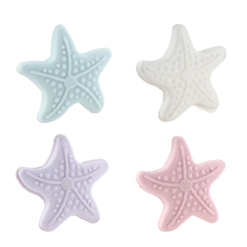 1 Pc Wall Thickening Mute Starfish Modelling Rubber The Handle Door Lock After Protective Pad Wall Stickers