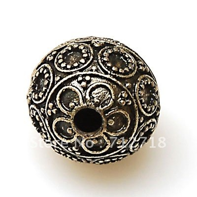 Beads,Tibetan style beads cast veads 20mm antique Bronze sold of 20 pcs
