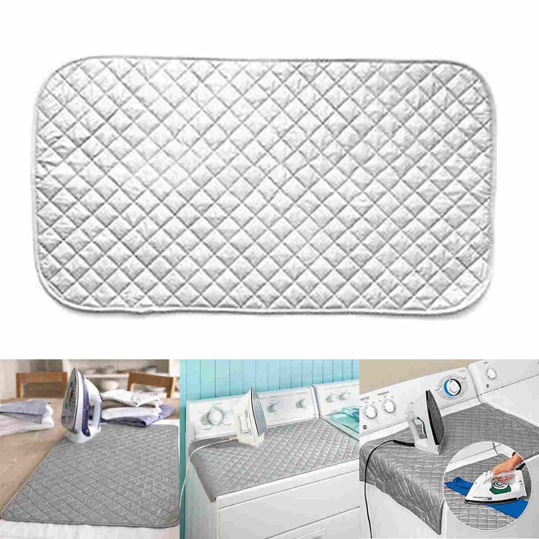 1pc Magnetic Ironing Mat Laundry Pad Mayitr Mesh Press Clothes Protector Washer Dryer Cover Board Heat Resistant Blanket