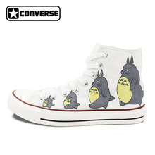 Men Women Converse All Star Neighbor Totoro Design Hand Painted Shoes Woman Man High Top White