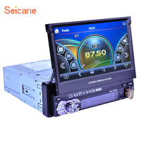 Seicane Universal One Din Wince 6.0 Car Radio Bluetooth music GPS support IPOD IPhone USB SD Rearview Camera USB Canbus