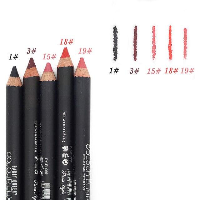 Party Queen 20 Colors ELIXIR Lip Liner Pencil Functional Eyebrow Eye Lip Makeup Waterproof Cosmetic Lipliner Pen Paris Style 5
