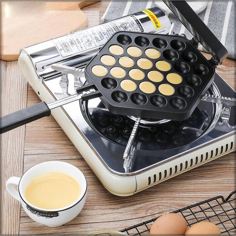 QQ Egg Bubble Cake Baking Pan Mold Eggettes Iron Aluminum Hongkong Waffle Maker Mould Non-stick Coating DIY Muffins Plate
