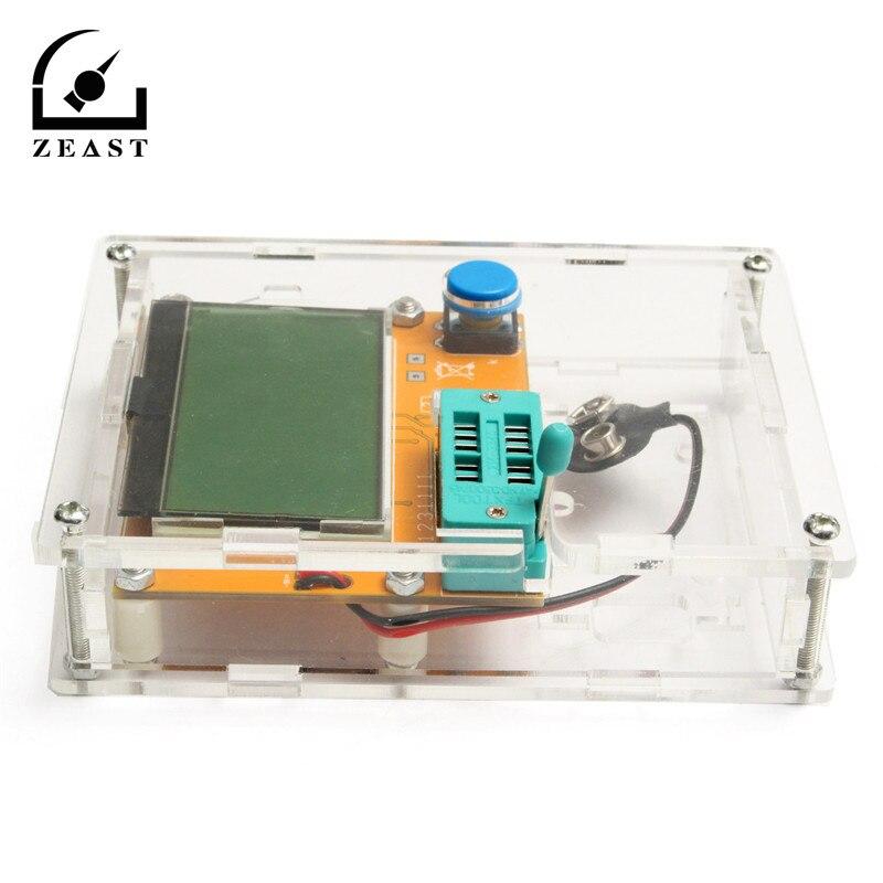 L CR-T4 Mega328 M328 multímetro transistor tester ESR meter diodo triodo capacitancia ESR meter mos PNP NPN L CR SCR inductancia