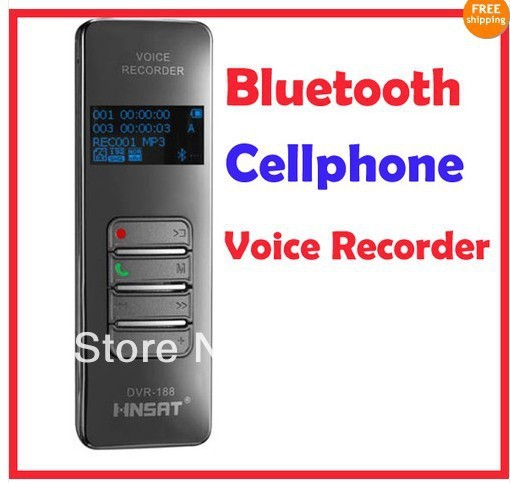 Free shipping!Professional  OLED colorful display screen  4G Wireless Bluetooth Mobile Phone Voice Recorder