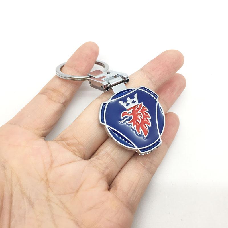 3D Metal Car Key Ring Keychain Key Holder Logo Auto Car Fashion Accessories For Saab 03-10 9-3 9-5 93 95 9-7X SCANIA