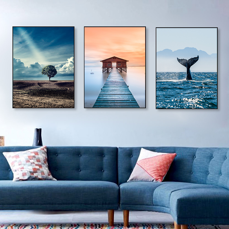 Fashion New Canvas Paintings Posters Prints,Seaside