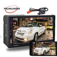 7Touch Screen Bluetooth USB/FM/Aux Stereo Hand Free Mirror Link Car 2 Din MP5 Player With Camera Radio For Android Phone
