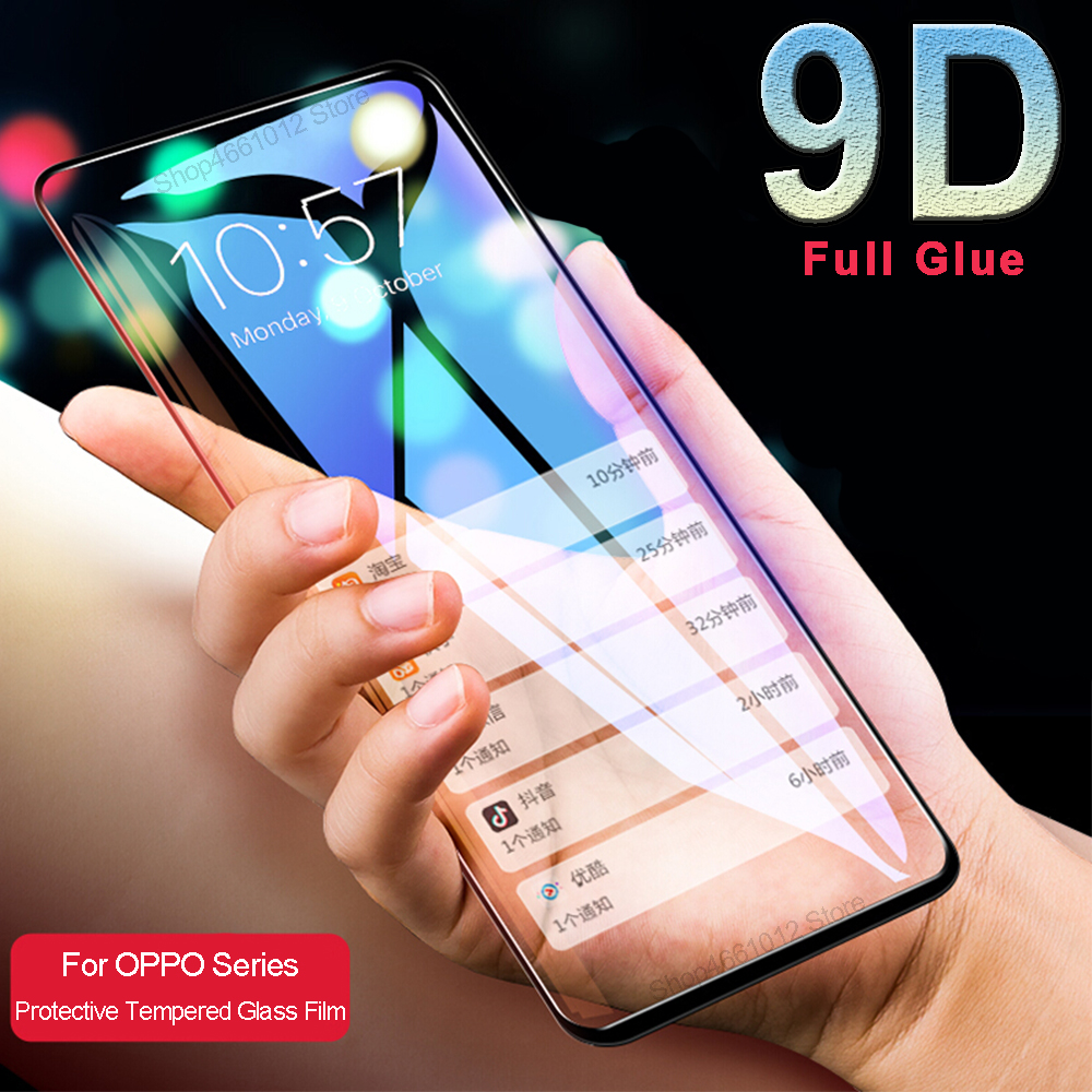 9D Screen Protector For OPPO F9 F11 Pro Safety Tempered Glass Full Cover For OPPO Realme 2 Pro 3 1 2pro Protective Glass Film