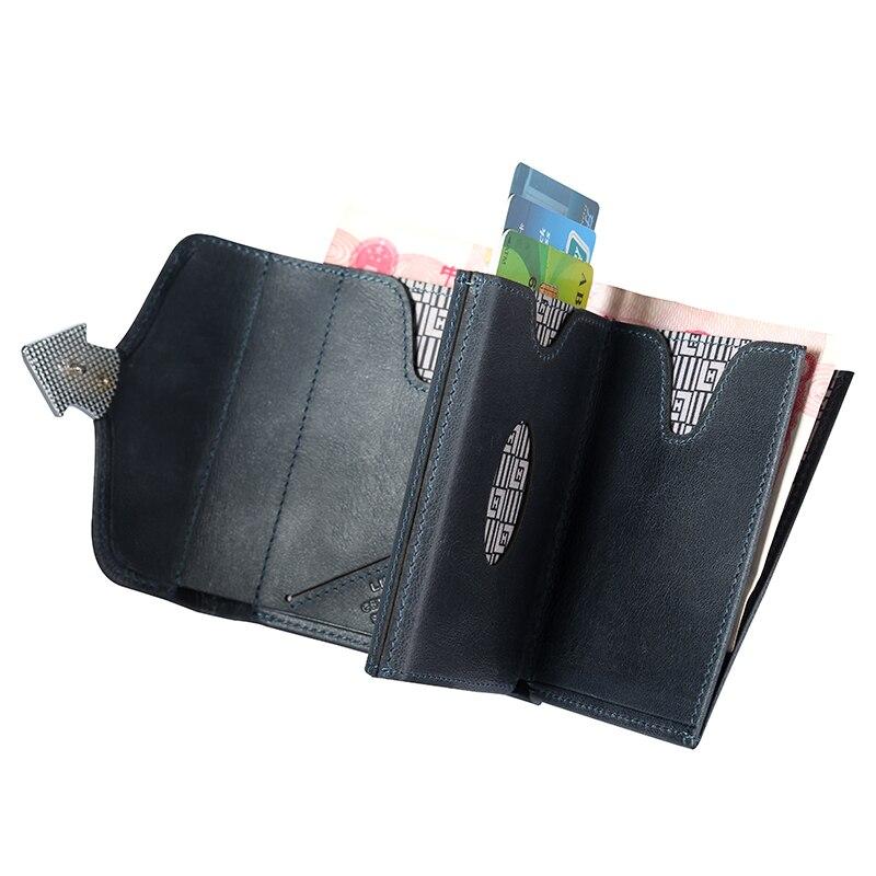Nouveau Design homme argent sacs à main portefeuille décontracté pour hommes multi fonctionnel court portefeuille en cuir de vachette Vintage luxe homme sac à main - 6