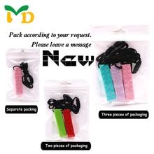 MD Brick Stick Silicone Bijtring BPA Gratis Silicone Hanger voor DIY Fopspeen Clip Fopspeen Ketting Baby Tandjes Speelgoed kerstcadeau