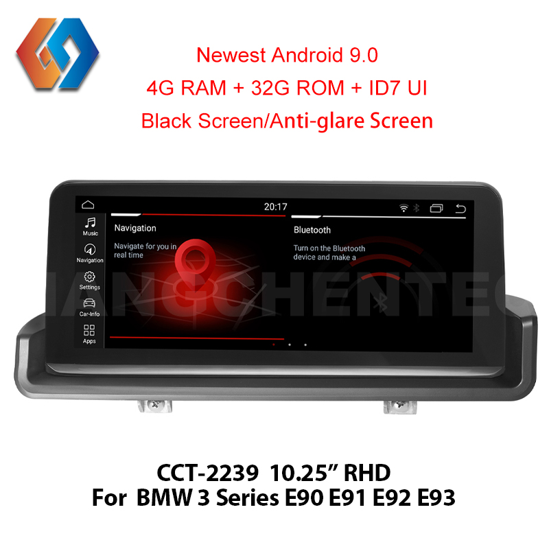 1 Din Rádio Android 9.0 Multimídia Para BMW 3 E9x Série Mão Direita Drive E90 E91 E92 E93 Tela Sensível Ao Toque GPS do carro 39