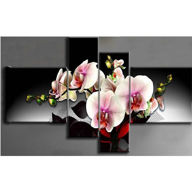 needlework diamond embroidery diy diamond mosaic painting rhinestones cross stitch diamond painting Dream flower 4pcs/set zx
