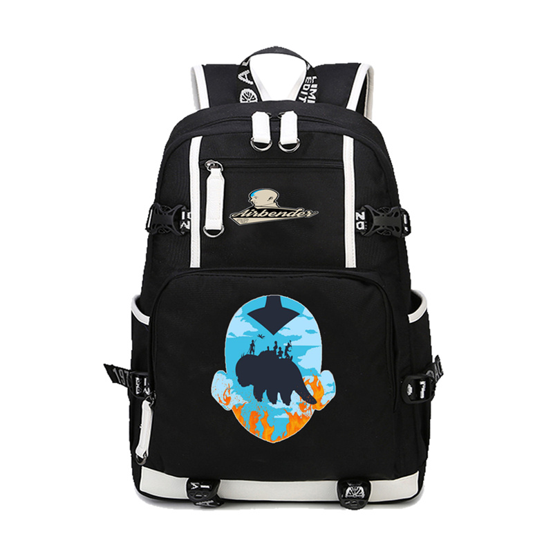 Avatar:The Last Airbender Backpack School Knapsack Shoulder Bags Womens Men Travel Packsack student School backpack Laptop Bag divage кисть кабуки из натуральной щетины professional line
