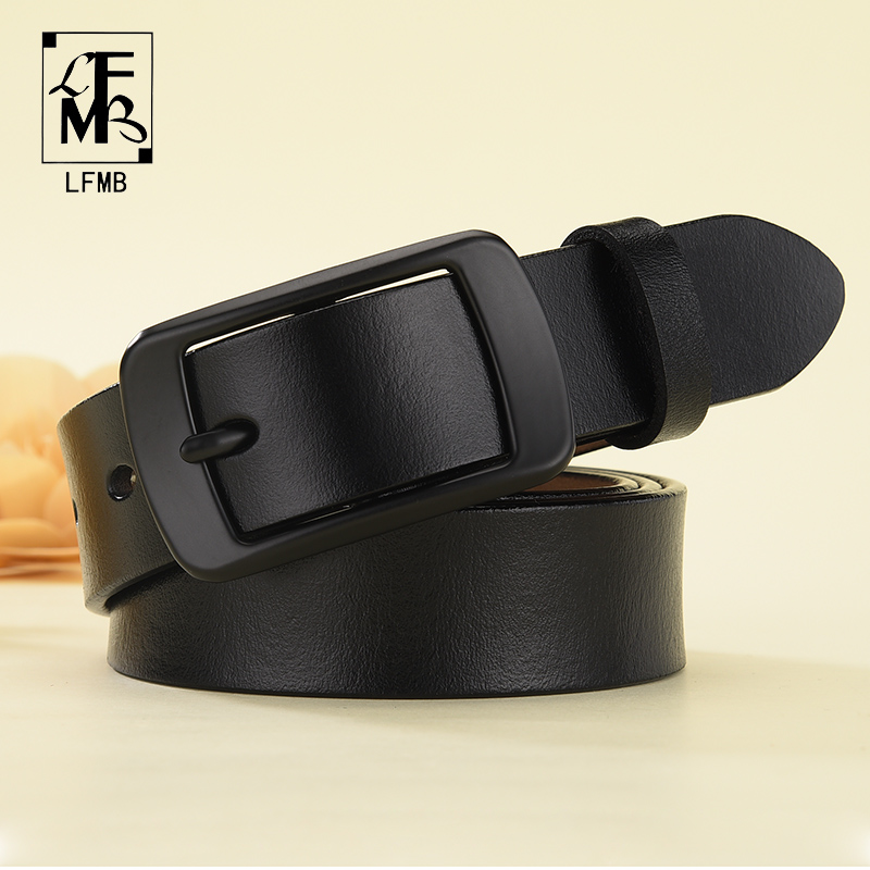 [LFMB]New Designer Fashion Women's Belts Genuine Leather Brand Straps Female Waistband Pin Buckles Fancy Vintage For Jeans
