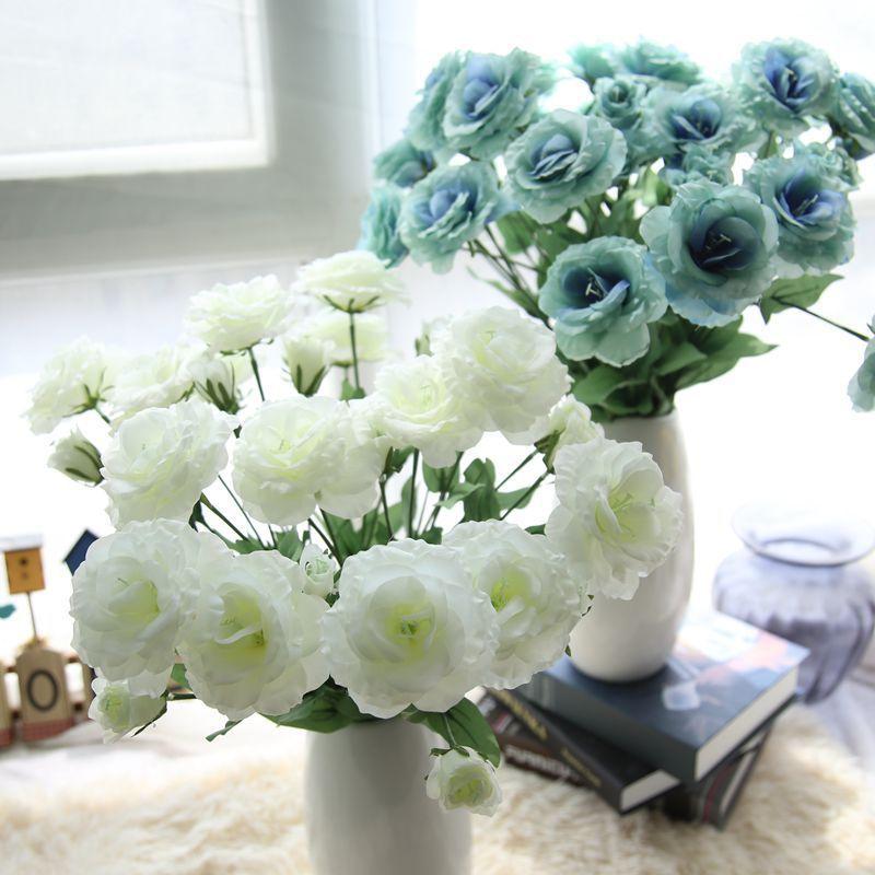 4 Bouquet 84 Head Artifical Plastic Rose Wedding Party Home Decor Silk Flower lk