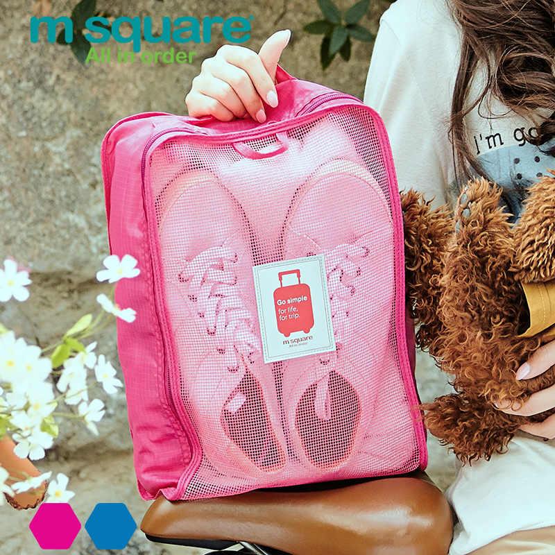 M kare seyahat aksesuarları için ayakkabı çantası kadın erkek taşınabilir bagaj Tote İşlevli ambalaj küpleri saklama kutusu