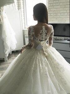 Image 5 - Nowa Gorgesous długa suknia balowa z rękawami koronkowe suknie ślubne luksusowa letnia sukienka 2020 suknia ślubna vestido De Noiva szata de mariee