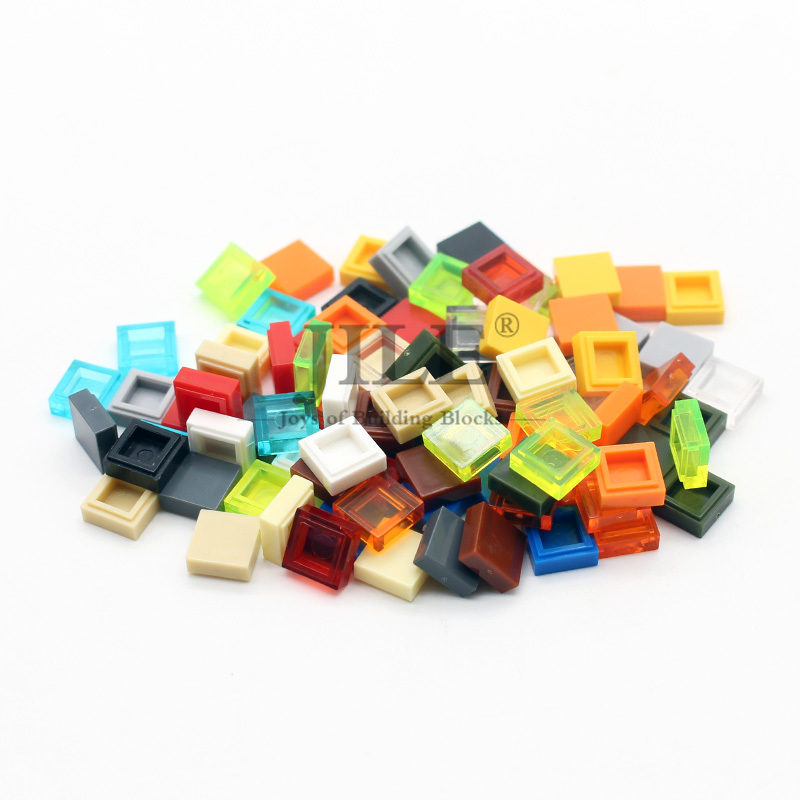 Free Shipping Building Blocks Moc Tiles 1x1 3070 Tablet DIY Creative Enlighten Bricks Sets Compatible With Assembles Particles