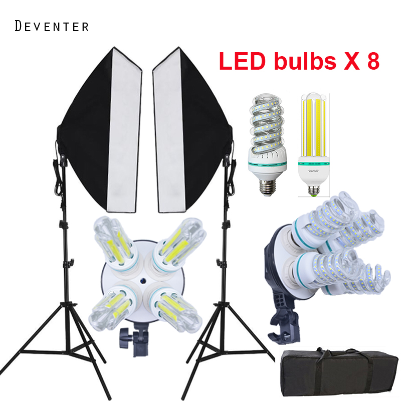 8PCS LED fill light lights photography Photo studio continuous lighting kits 2PC softbox diffuser 2PC Lamp