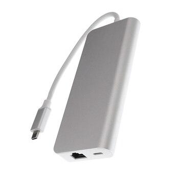 USB женщина к HDMI мужчине | USB Type C к HDMI VGA Gigabit Ethernet Lan RJ45 адаптер для Macbook Air/Pro USBC PD зарядный концентратор 6 в 1 Type-C расширитель док-станция