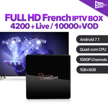 France IPTV French Arabic SUBTV 1 Year IP TV Code Leadcool X Android 7.1 1G+8G S905W Italy Canada