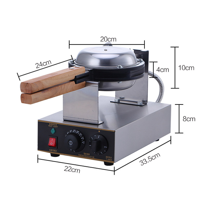 220V/110V commercial Waffle machine electric Chinese Hong Kong eggettes puff cake waffle iron maker machine bubble egg cake oven directly factory price commercial electric double head egg waffle maker for round waffle and rectangle waffle