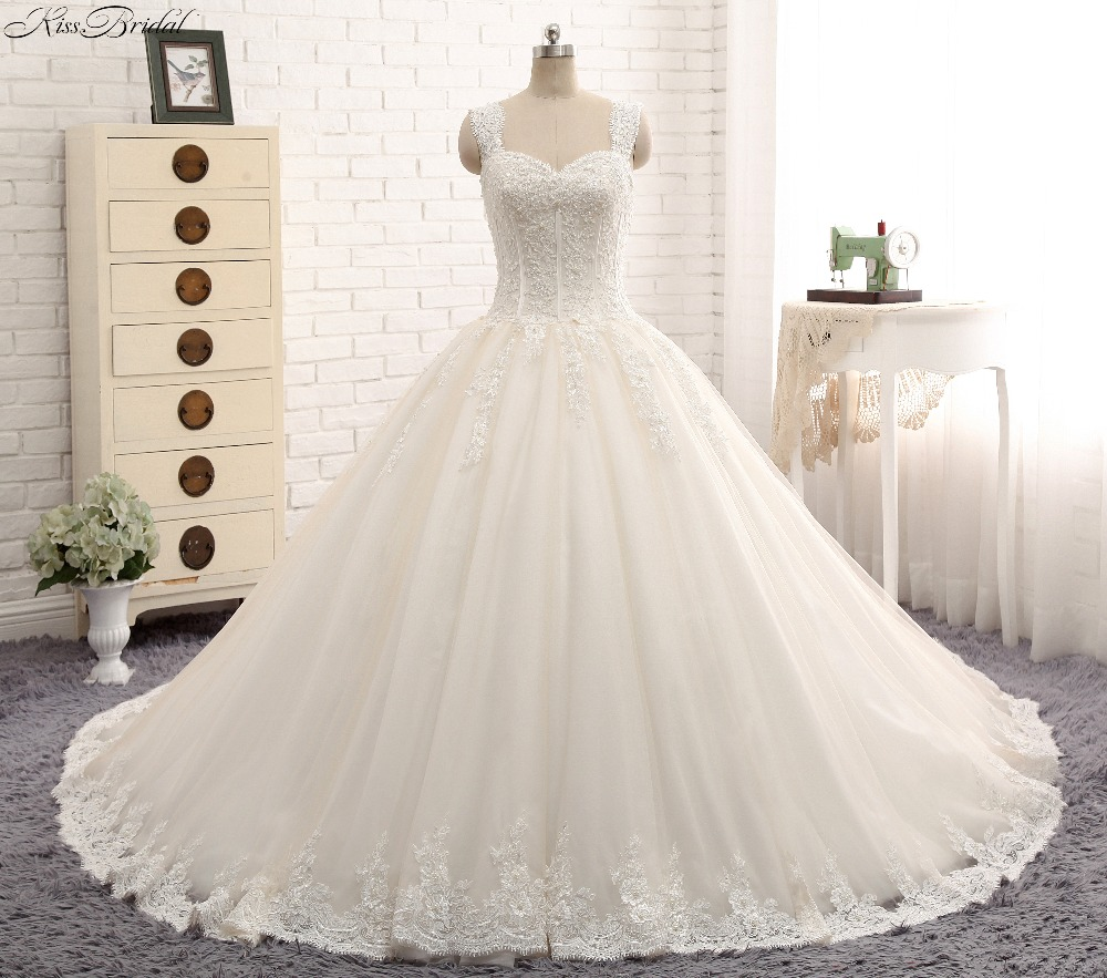 Ball Gown Wedding Dresses With Train: Aliexpress.com : Buy New Arrival Amazing Long Wedding