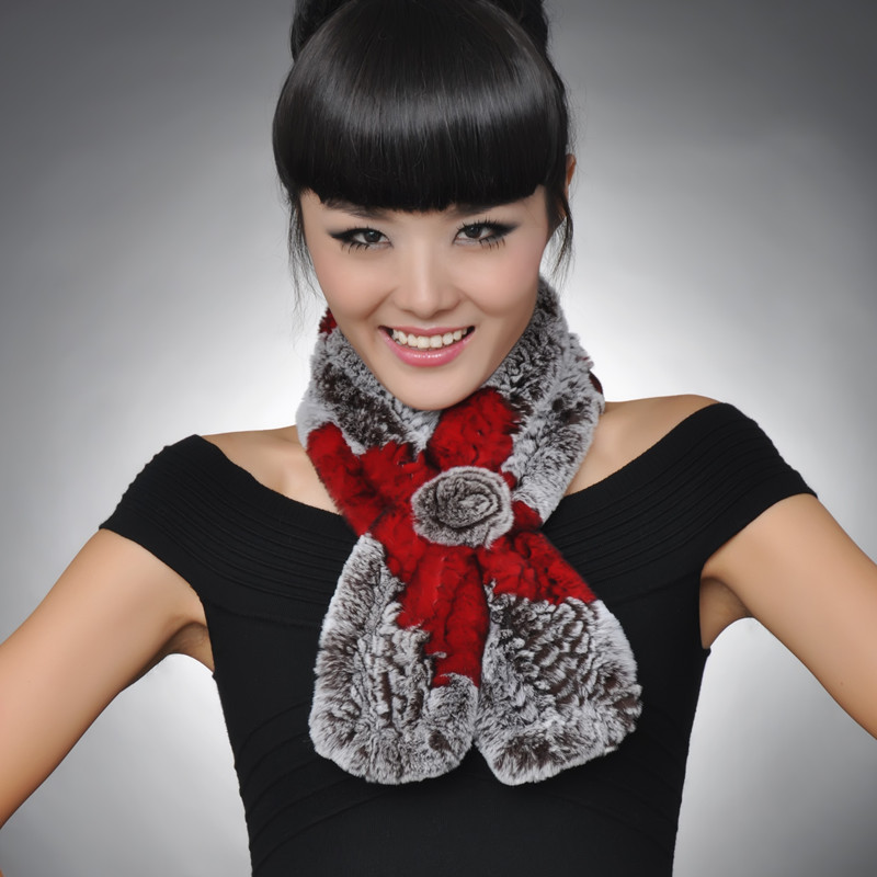 rabbit hair style f59 new style autumn winter thermal thermal muffler 4658