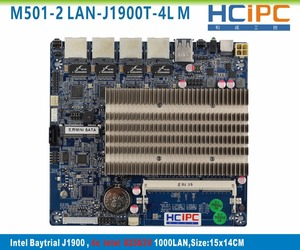 HCiPC M501-2 LAN-J1900T-4L BayTrail J1900 4LAN ITX Motherboard,Multi LAN Firewall Motherboard,Router,Firewall System,Server PC(China)