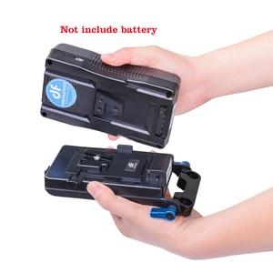 Image 5 - DF DIGITALFOTO système dalimentation avec port USB DSLR v montage batterie adaptateur secteur V verrouillage caméra vidéo batterie plaque essentiels