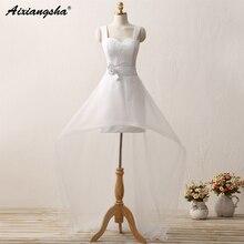 Hot Sale White Vestido De Noiva 2018 New Design A line Perfect Belt Robe De Mariage Strapless Lace Up Wedding Dresses