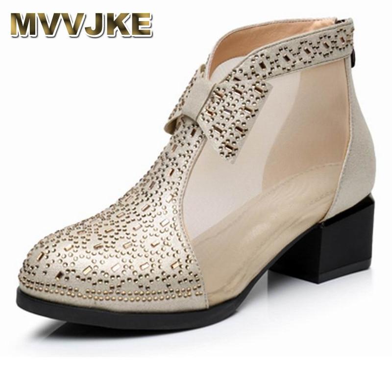 44edd504d27d55 blanc Taille Zapatos Chaussures En Talons Femmes Hauts Dentelle À or Carré  Bottes Femme Cheville Mvvjke D'été Véritable Cuir Noir ...