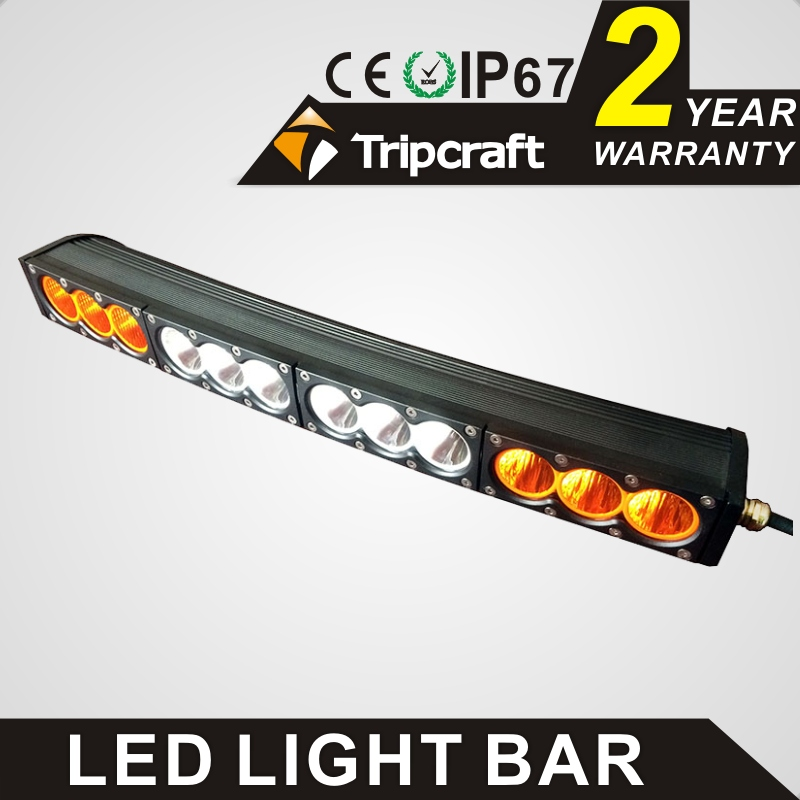 TRIPCRAFT 120W LED WORK LIGHT BAR white amber curved car lamp for Off Road truck driving light combo flood spot beam fog lamp spot flood combo 72w led working lights 12v 72w light bar ip67 for tractor truck trailer off roads 4x4 led work light