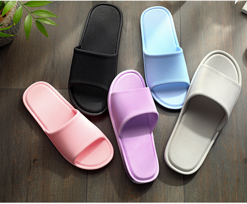 Männer Hause Hausschuhe 2019 Sommer Schuhe Mann Innen Flache Slipper Non-slip Sohle Unisex Bad Pantoffel Einfarbig Männlichen lässig Dias