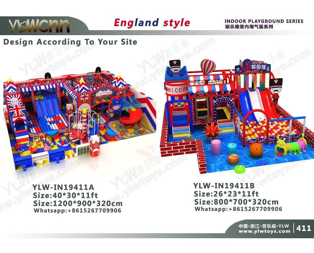 Le jeu mou d'enfants certifié par CE, TUV place le YLW-IN19411 mou d'intérieur Commercial de zone de jeu d'équipement de terrain de jeu de divertissement