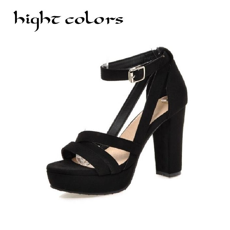 Size 33-43(26.5cm) Gladiator Summer Sandals Women Wedding Platform Shoes Gray Red Black High Heels Sexy Shoes Sapato Feminino gladiator womens size 11 heels sheepskin sandals large size 33 cm 43 cm summer black green sandy cross tied woman pumps sexy