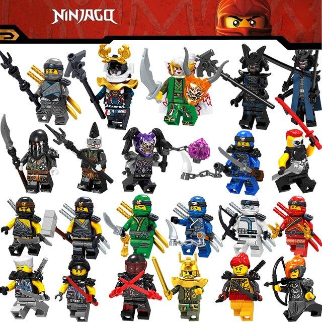 2018 New Legoing Ninjago Figures Blocks Nya Jay Zane Kai Cole Harumi Samurai X Action Legoings Figures Ninjago Toys For Children