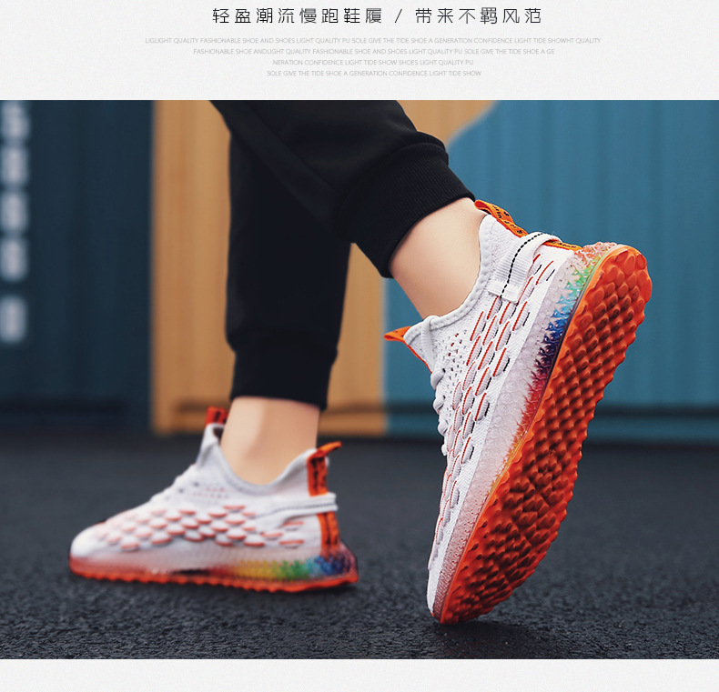 HTB1ZiFqXlCw3KVjSZFlq6AJkFXa5 Casual Fashion 4D print Men's dad Sneakers Flying Weaving Mesh Breathable Men Shoes Outdoor tenis Footwear Zapatillas Hombre