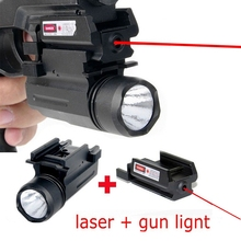 Tactical Red Dot Laser Sight + LED Flashlight Combo Hunting for Pistol Guns Glock 17,19,20,21,22,23,30,31,32