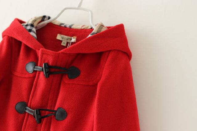 Retail Girl Worsted Outwear Hooded Long sleeve Kids coat Duffle ...