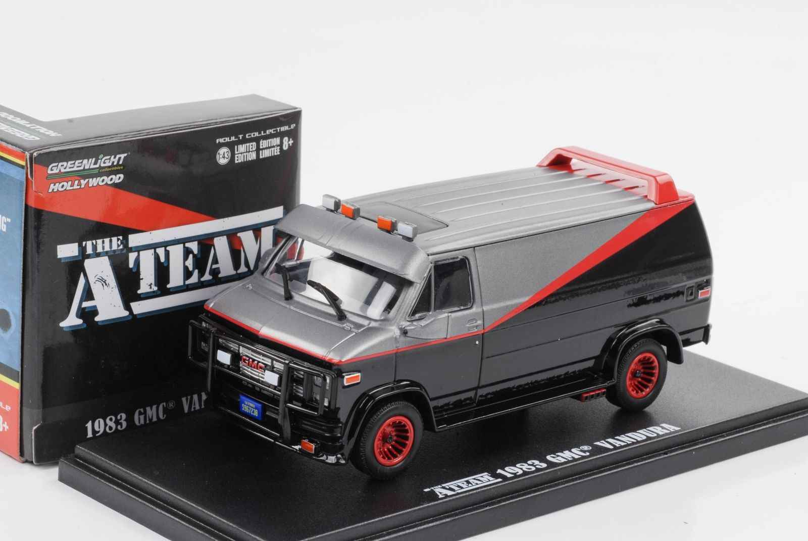 Green Light 1:43 1983 GMC Vandura The A-Team boutique alloy car toys for children kids toys Model original box