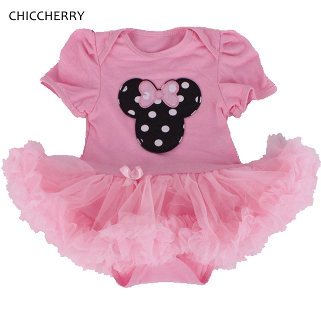 be125ea926f4 Minnie Baby Girls Lace Dress Infant Tutus Toddler Romper Dresses Birthday  Tutu Outfits Roupas Infantil Newborn