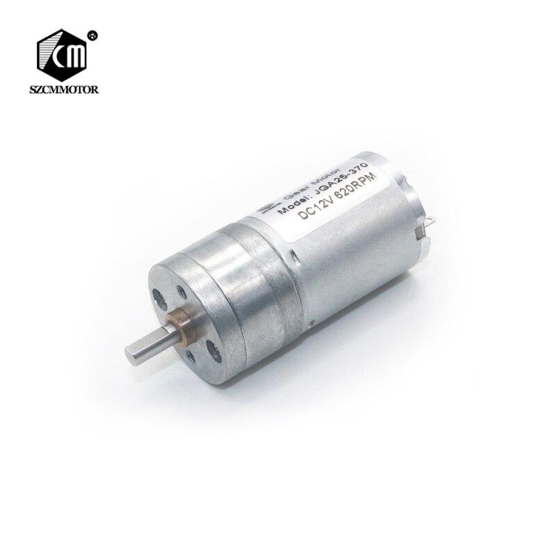 JGA25-370 25mm Diameter 12RPM to 1360 RPM Geared Motor Mini decelerating DC Central Shaft High Torque Gear MotorsJGA25-370 25mm Diameter 12RPM to 1360 RPM Geared Motor Mini decelerating DC Central Shaft High Torque Gear Motors