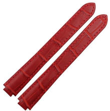 Muñeca venda de accesorios grano cocodrilo para mujer de marca relojes correa 14 mm ( lug 8 mm ) alta calidad hebilla del despliegue envío herramienta