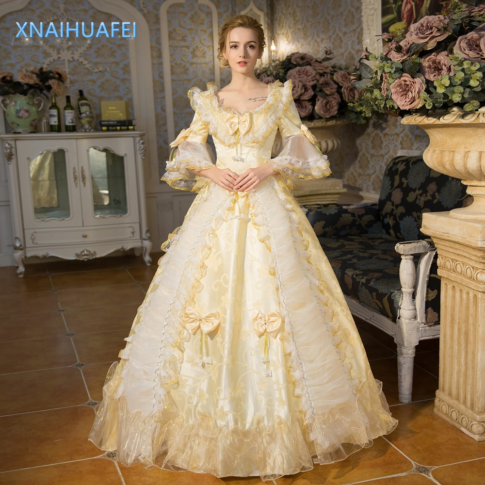 Formal Occasion Rococo Baroque Cosplay Costume Marie Antoinette Gown ...