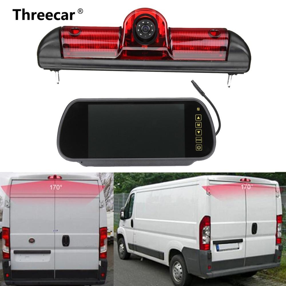 LED IR Lumière De Frein Arrière De Recul Parking Caméra & 7 pouce Moniteur Kit pour Fiat Ducato Pour Citroen Relais pour Peugeot Boxer
