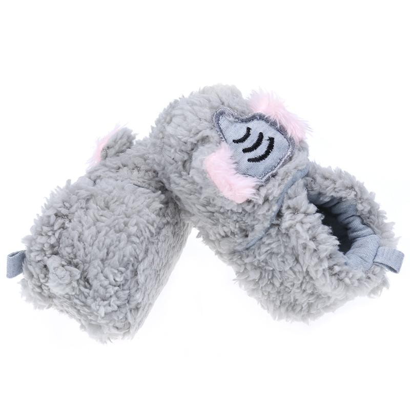 Toddler Shoes Coral Velvet Fleece Anti-slip Casual First Walker Cute Animal Winter Warn Baby Shoe for 0-18M