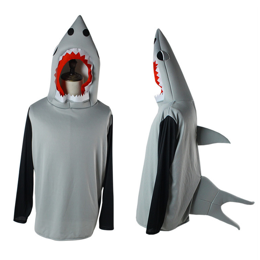 Halloween Ocean Animal Shark Cosplay Costume Performance Clothing Cartoon Adult Top