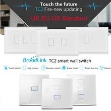 ФОТО Broadlink TC2 UK EU US Switch 1Gang 2Gang 3Gang Touch Switch Smart Home Automation Wireless Wifi Control Light Wall Switch RF433